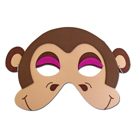Brown Monkey Childrens Foam Animal Mask #2