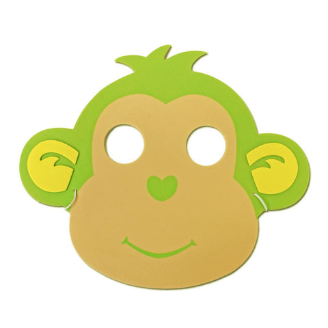 Green Monkey Childrens Foam Animal Mask