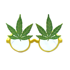 Herb Lover Costume Glasses 1960's, accessories, fancy dress, funny, glasses, green, hippie, masquerade, mens, womens