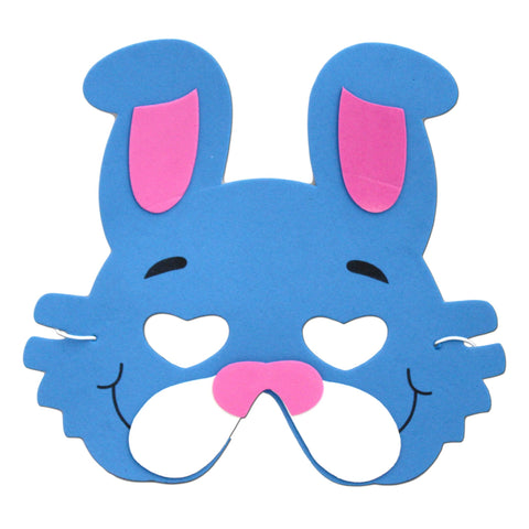 Dark Blue Rabbit Childrens Foam Animal Mask