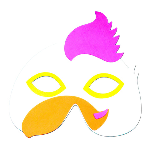 Purple Comb Rooster Childrens Foam Animal Mask