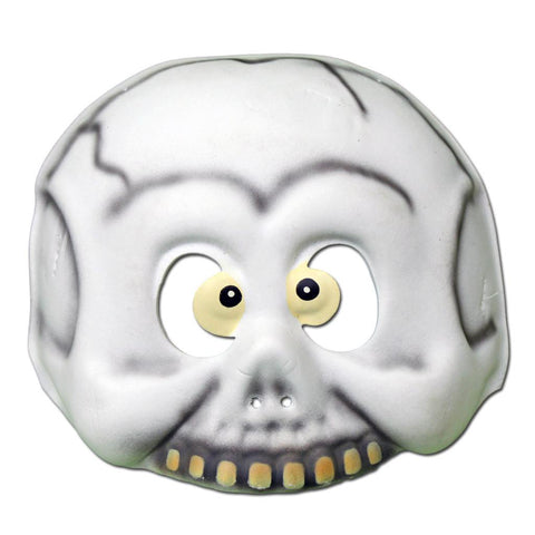 Childrens Masks - Goofy Childrens Halloween Skull Foam Mask