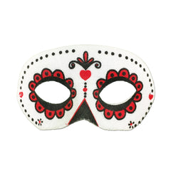 Day Of The Dead Masquerade Mask - Classic childrens, day of the dead, fancy dress, festival, halloween, masks, masquerade, mens, party mask, white, womens