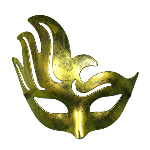 Masquerade Mask - Gold Wave Winged Masquerade Mask
