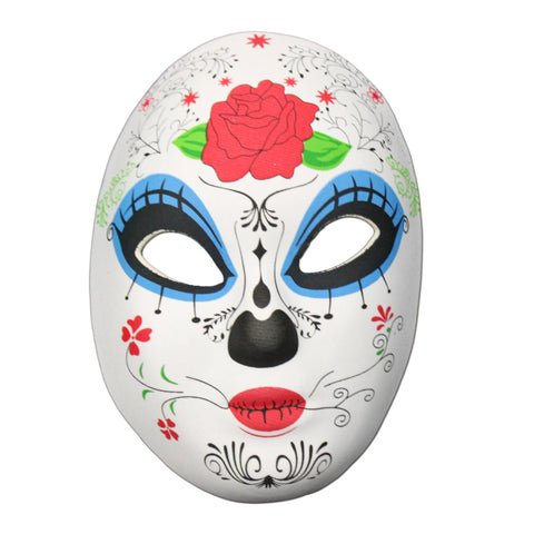 Rubber Mask - Day Of The Dead Masquerade Mask Rose Design