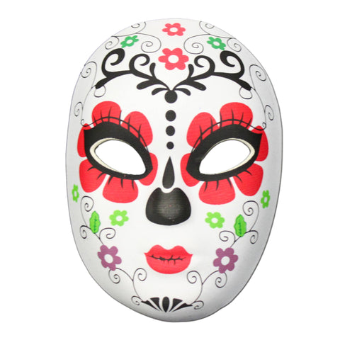 Day Of The Dead Masquerade Mask Flower Design