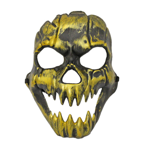 Scary Gold Ghoul Halloween Mask