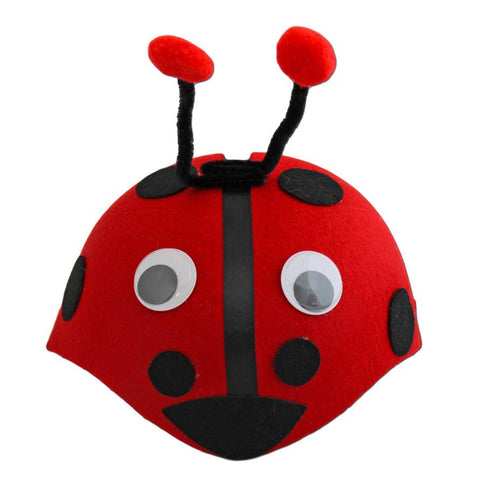 Childrens Ladybird Skull Cap - Fancy Dress Costume Accessory - Simply Party Supplies