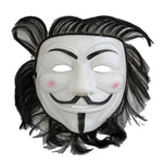 V for Vendetta Anonymous Mask With Hair