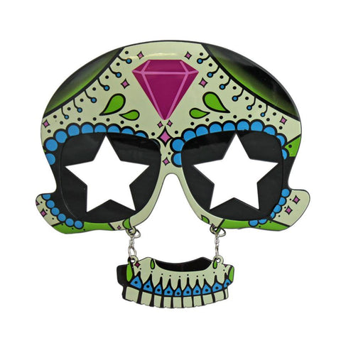 Day Of The Dead Glasses With Stars accessories, day of the dead, fancy dress, glasses, masquerade, mens, womens