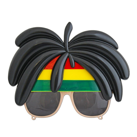 Glasses - Rasta Glasses With Hair