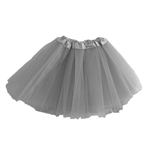 Girls Grey Silver Tulle Tutu