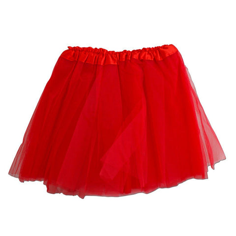 Fancy Dress Costume - Girls Red Tulle Tutu