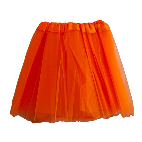 Fancy Dress Costume - Girls Orange Tulle Tutu