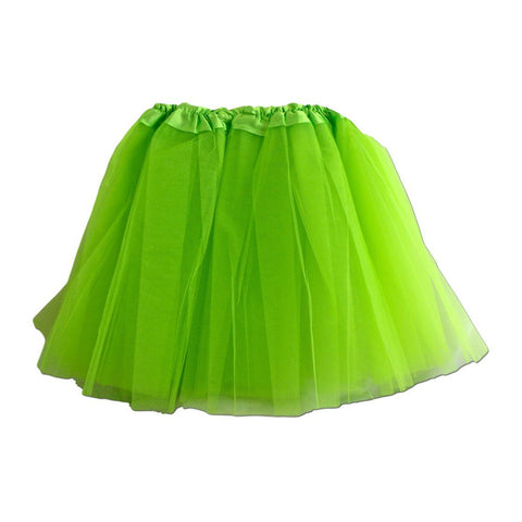 Fancy Dress Costume - Girls Lime Green Tulle Tutu