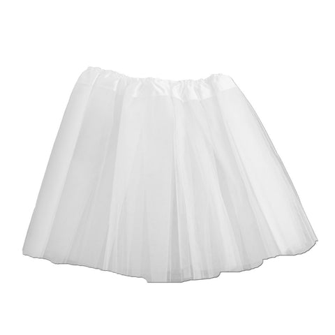 Adults Tulle Tutu Skirt - White 40cm