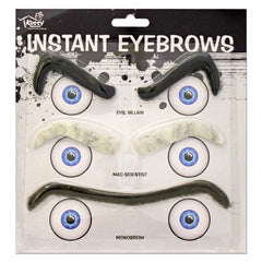 Three Piece Instant Eyebrow Set accessories, costume, eyebrows, facial hair, fancy dress, mens, womens