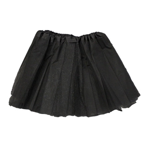 Adults Tulle Tutu Skirt - Black 40cm