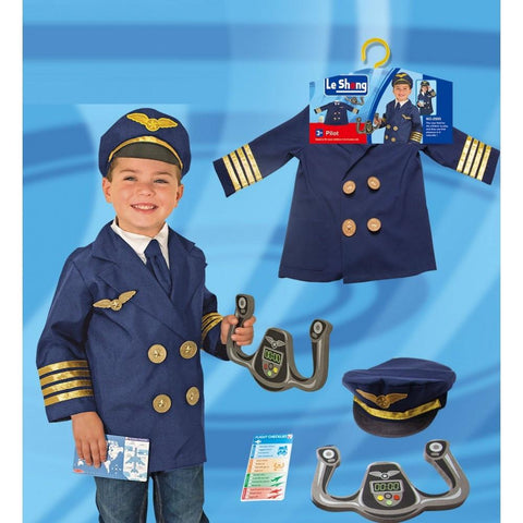 Childrens Deluxe Pilot Costume Ages 4-7
