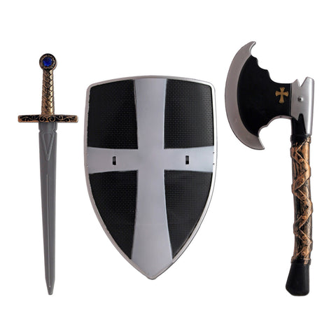 Childrens Deluxe Medieval Warrior Set Ages 4-8