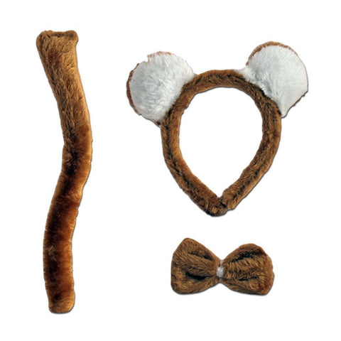 Childrens Bear Ears, Tail and Bow Tie Set