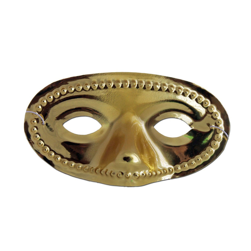 Masquerade Mask - Gold Domino Masquerade Mask