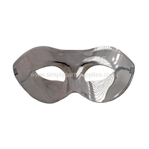 Basic Shiny Silver Masquerade Mask