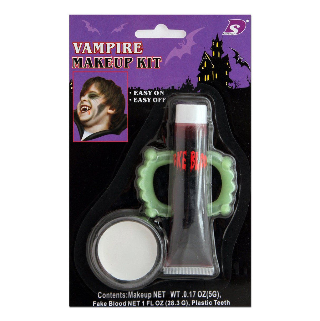 Fancy Dress Costume Accessory - Character Make Up Vampire Set With Blood
