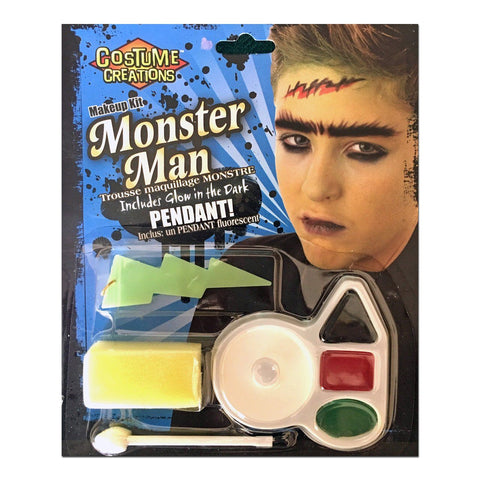 Character Make Up Set Monster Man - Fancy Dress Costume Accessory - Simply Party Supplies