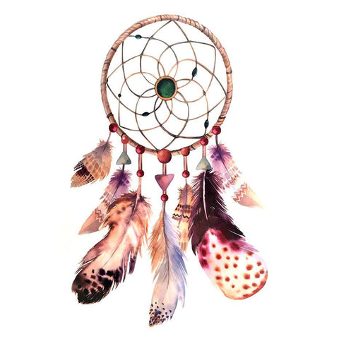 Dream Catcher Temporary Tattoo Themed Sheet - Design 6 colour, dream catcher, feather, sheet, tattoo, themed, wholesale