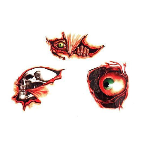 Small Peeping Eyeball Wound Temporary Tattoo colour, cuts and wounds, halloween, tattoo, themed
