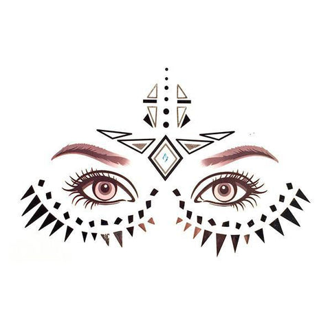 Temporary Face Art Tattoo - Tribal colour, face, tattoo, wholesale, womens