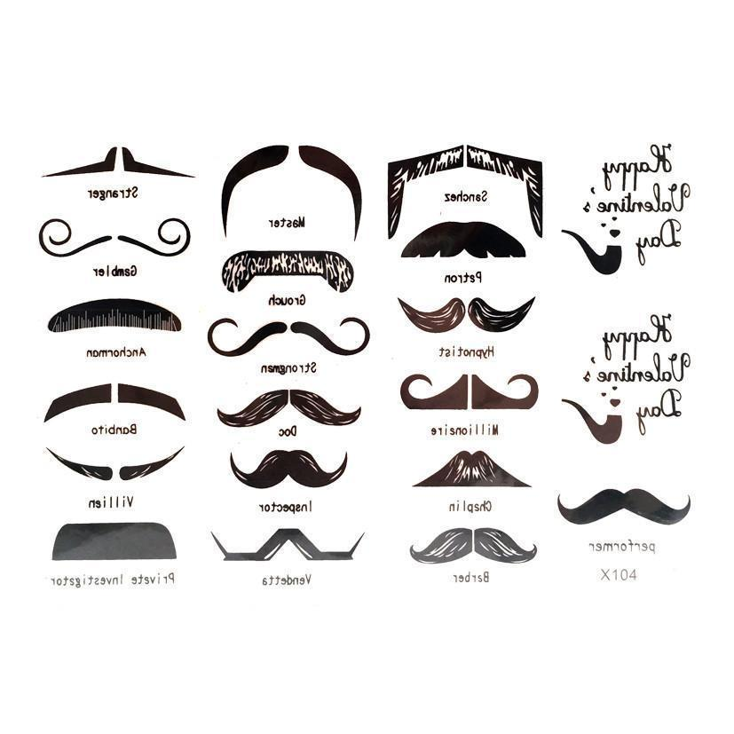Buy Mini Mustache Temporary Tattoo Themed Sheet At Simply Party Supplies For Only R 3500