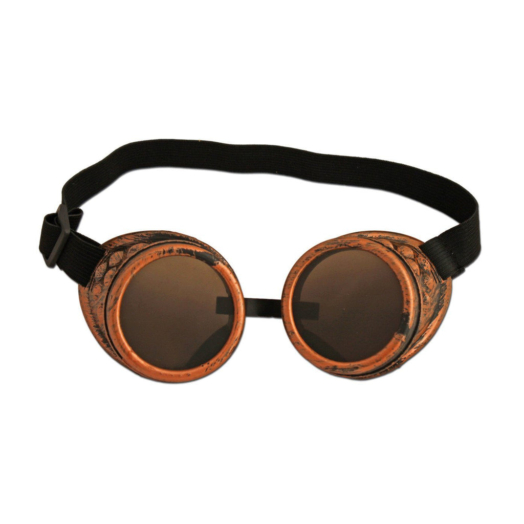Decorative Steampunk Plastic Bronze Colour Goggles - Frosted accessories, clearance, cosplay, fancy dress, funny, glasses, goggles, masquerade, mens, steam punk, steampunk, womens