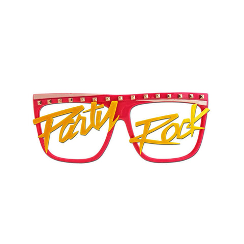 Super Cool Party Rock Costume Glasses accessories, fancy dress, funny, glasses, masquerade, mens, womens