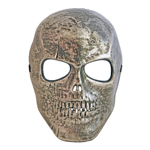 Scary Silver Skull Halloween Mask