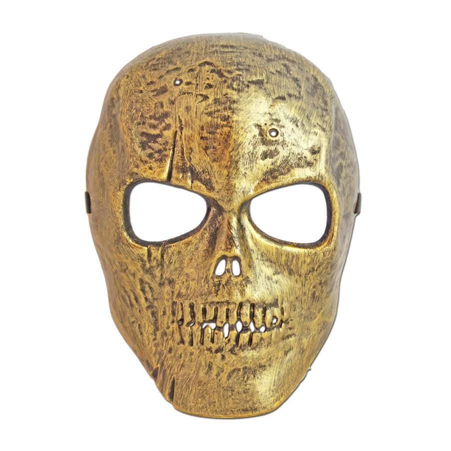 PVC Mask - Scary Gold Skull Halloween Mask