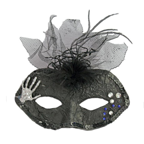 Masquerade Mask - Halloween Masquerade Mask With Hand