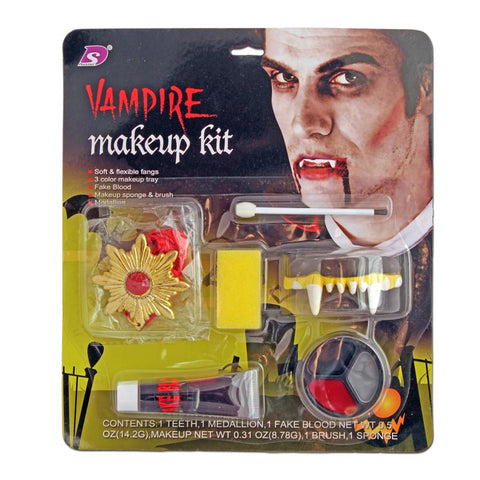 Vampire Makeup Kit With Medallion accessories, blood, costume, face paint, fancy dress, halloween, makeup, vampire, vampires