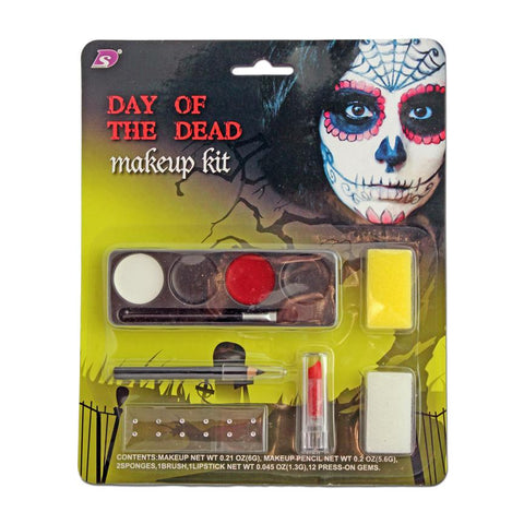 Day Of The Dead Makeup Kit accessories, costume, day of the dead, face paint, fancy dress, halloween, makeup