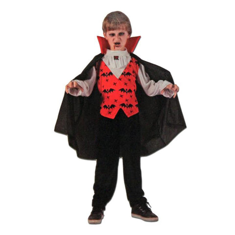 Childrens Deluxe Vampire Halloween Costume boys, childrens, costume, fancy dress, girls, halloween, vampires