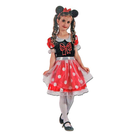 Girls Minnie Mouse Costume childrens, costume, fancy dress, girls, minnie, minnie mouse