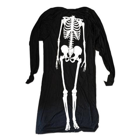 Childrens Skeleton Halloween Poncho Costume