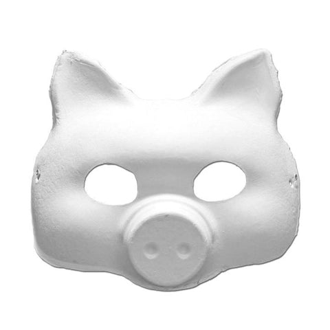 DIY Masquerade Mask - Pig animals, childrens, diy, fancy dress, farmyard, masks, masquerade, pig, white