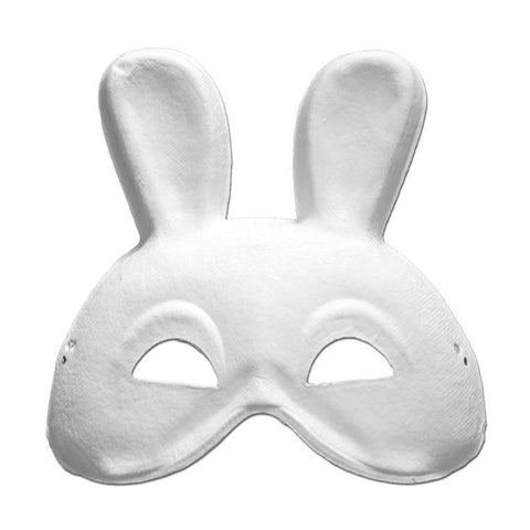 DIY Masquerade Mask - Rabbit animals, big five, childrens, diy, fancy dress, masks, masquerade, rabbit, white
