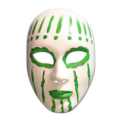 Masquerade Mask - White And Green Painted Volto Masquerade Mask
