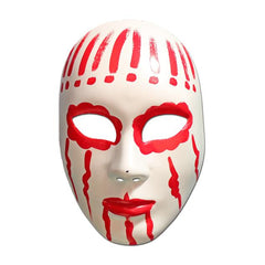Masquerade Mask - White And Red Painted Volto Masquerade Mask