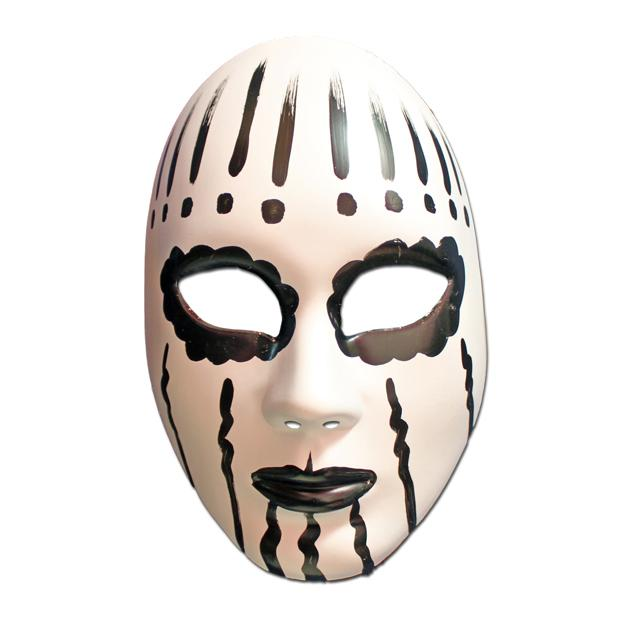 White And Black Painted Volto Masquerade Mask black, fancy dress, full face, masks, masquerade, venetian, volto, white