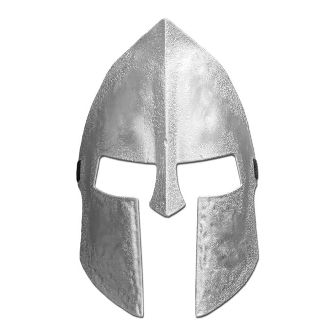 Adult Silver Knight Mask - Masquerade Mask - Simply Party Supplies