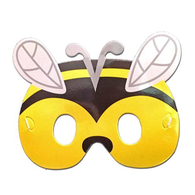 Bee Childrens Cardboard Animal Mask - Childrens Masks - Simply Party Supplies
